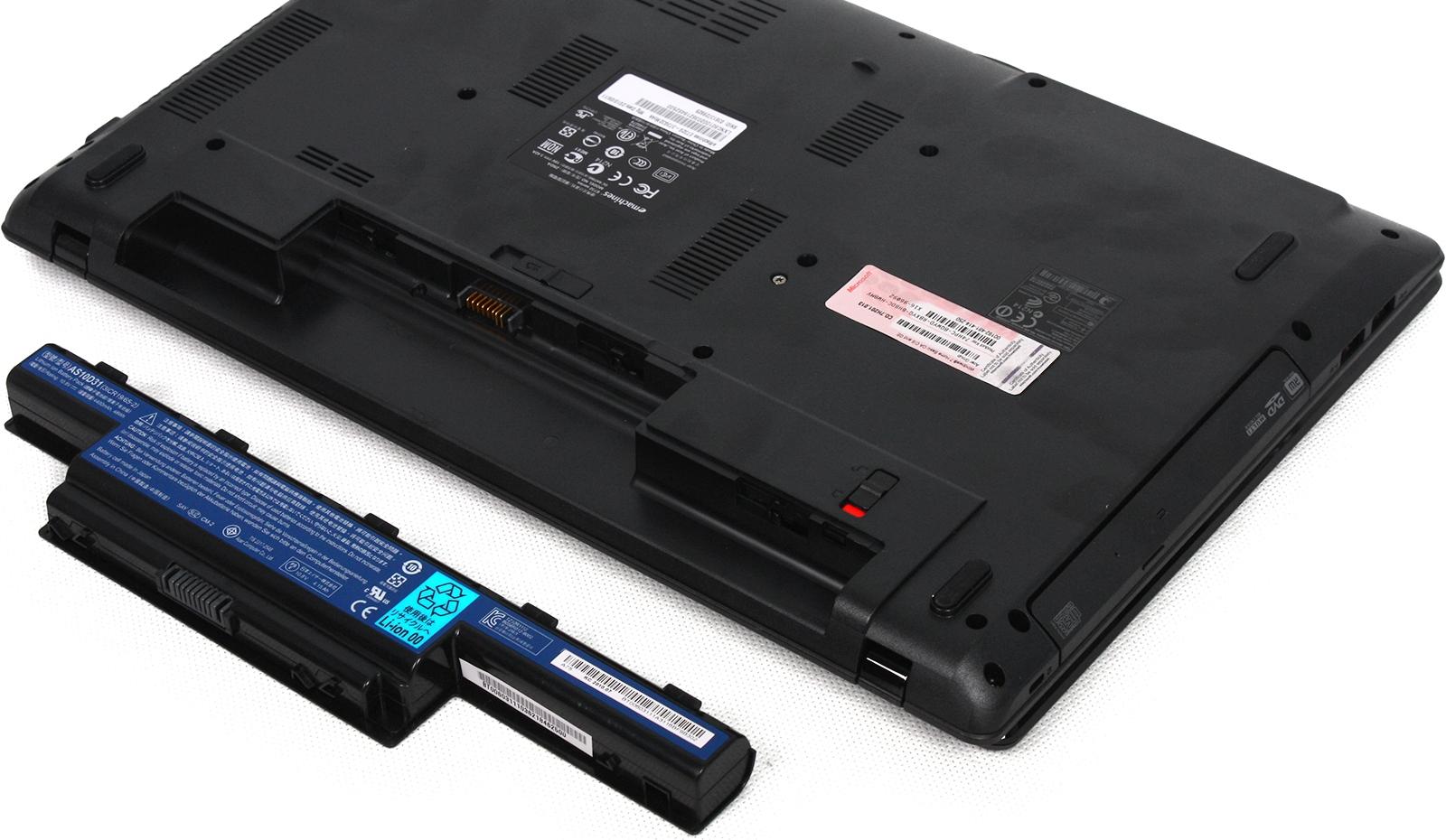 Где находиться батарея в ноутбуке